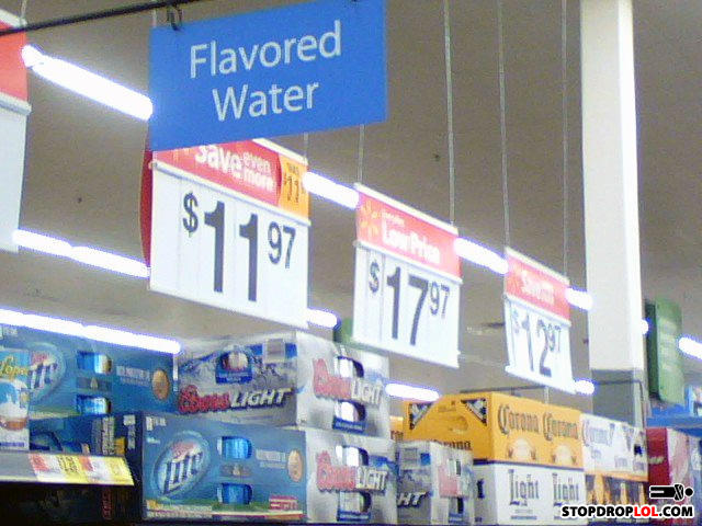- Miller lite = flavored water. Coors light = watere